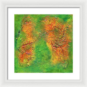 green-abstract-art-Gamma 136 Abstract - Framed Print-Sensory Art