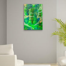 Load image into Gallery viewer, green-abstract-art-Gamma 23 Abstract Wall Art Print-Sensory Art