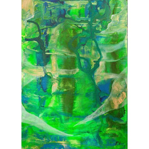 green-abstract-art-Gamma 23 Abstract Wall Art Print-Sensory Art