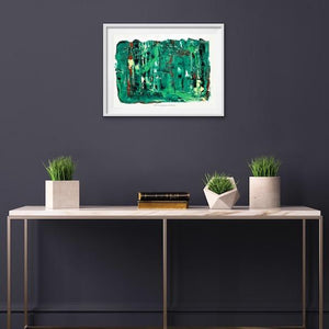 green-abstract-art-Gamma 51 Abstract Wall Art Print-Sensory Art
