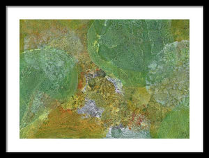 green-abstract-art-Kappa 18 Abstract - Framed Print-Sensory Art