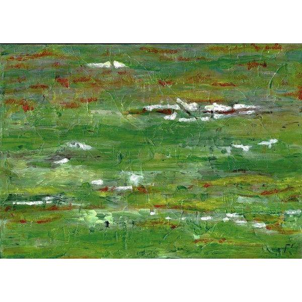 green-abstract-art-Lamda 2 Abstract Wall Art Print-Sensory Art