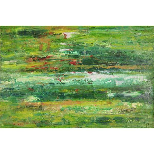 green-abstract-art-Lamda 3 Abstract Wall Art Print-Sensory Art