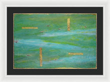 Load image into Gallery viewer, green-abstract-art-Lamda #7 Abstract - Framed Print-Sensory Art