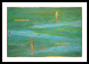 green-abstract-art-Lamda #7 Abstract - Framed Print-Sensory Art