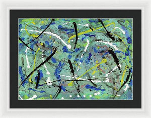 Framed Print, Iota #30 Abstract Wall Art - Framed Print,Sensory Art House