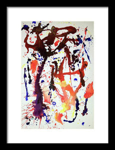 Iota 40 Abstract - Framed Print