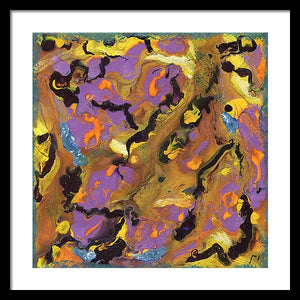 drip-abstract-Iota 39 Abstract - Framed Print-style-of-Jackson-Pollock