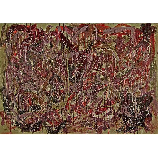 drip-abstract-Iota 5 Abstract Wall Art Print-style-of-Jackson-Pollock