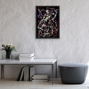 drip-abstract-Iota 15 - Abstract Wall Art Print-style-of-Jackson-Pollock