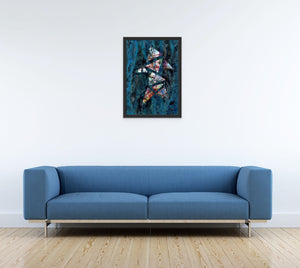 Canvas Print, Kappa(κ) #9  - Abstract Wall Art - Canvas Print,Sensory Art House