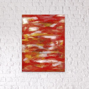 red abstract art Gamma 104 Abstract Wall Art Print-Sensory Art House