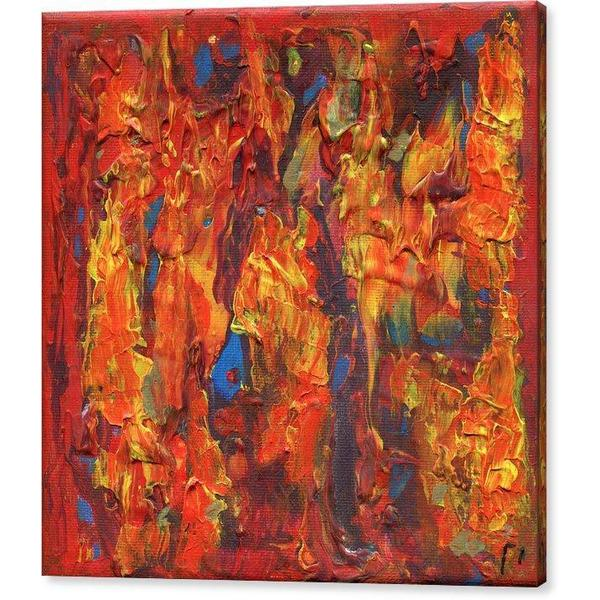 orange-abstract-Gamma 126 Abstract - Canvas Print