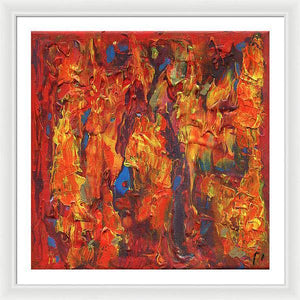 orange-abstract-Gamma 126 Abstract - Framed Print