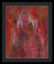 Load image into Gallery viewer, red-abstract-art-Gamma 128 Abstract - Framed Print-Sensory Art House