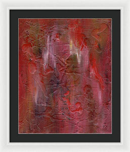 red-abstract-art-Gamma 128 Abstract - Framed Print-Sensory Art House
