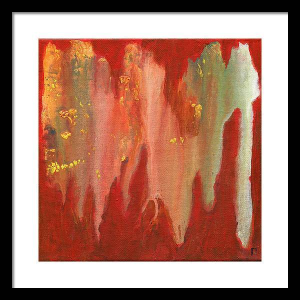 orange-abstract-Gamma 130 Abstract - Framed Print