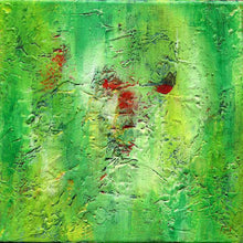 Load image into Gallery viewer, green abstract art -gamma 133, green, red-Sensory Art House
