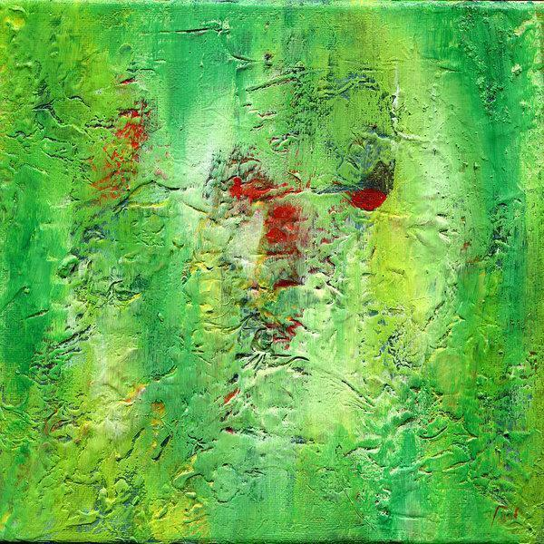 green abstract art -gamma 133, green, red-Sensory Art House