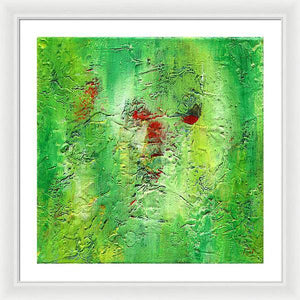 green-abstract-art-Gamma 133 Abstract - Framed Print-Sensory Art