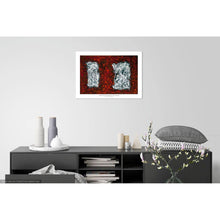 Load image into Gallery viewer, red-abstract-art-Gamma 25 Abstract Wall Art Print-Sensory Art House