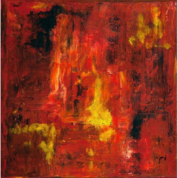 red abstract art Gamma 28 Abstract Wall Art Print-Sensory Art House