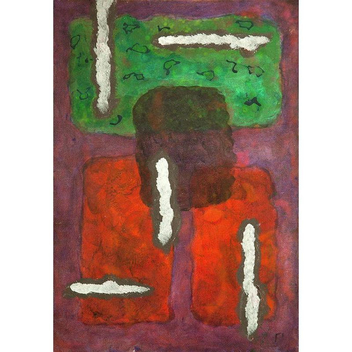 Mu 17 Abstract Wall Art Print-in-style-of-mark-rothko