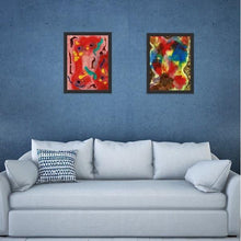 Load image into Gallery viewer, red abstract art Phi 1 Abstract Wall Art Print-Sensory Art House