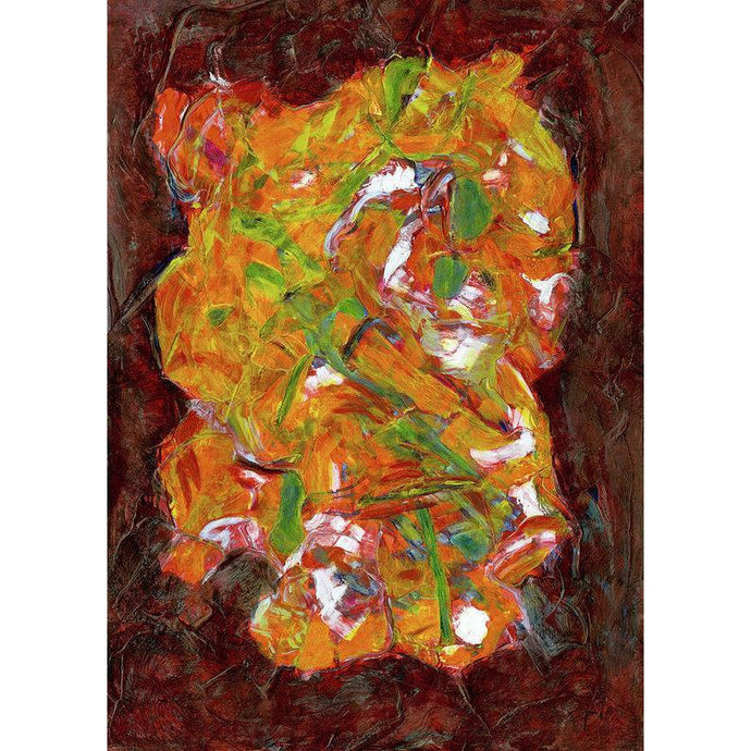 orange-abstract-Rho 24 Abstract Wall Art Print