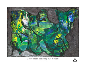 Print Ready Art Download, Rho(ρ)#16  Painting - Digital  Download,Sensory Art House
