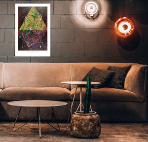 Canvas Print, Xi(ξ) #5  - Abstract Wall Art - Canvas Print,Sensory Art House