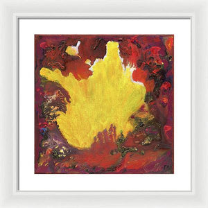 red-abstract-art-Gamma 131 Abstract - Framed Print-Sensory Art House