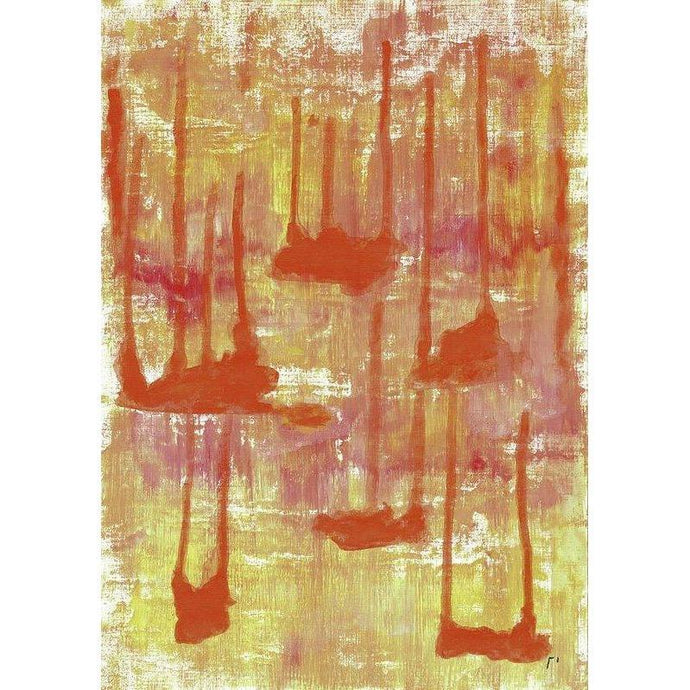 orange-abstract-Gamma 97 Abstract Wall Art Print