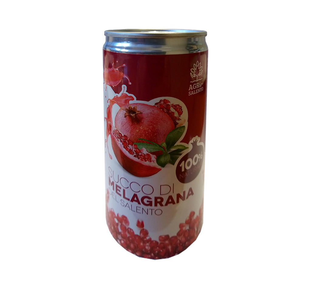 Succo di frutta al Melograno 100% - 200ml lattina - AGRin SALENTO