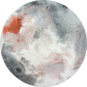 Blush Moon Canvas Circle Print