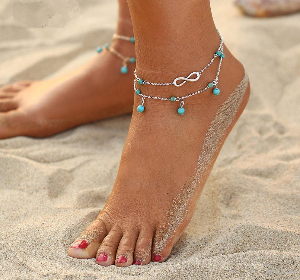Multi Layer Anklet For Woman-Accessoryssimo