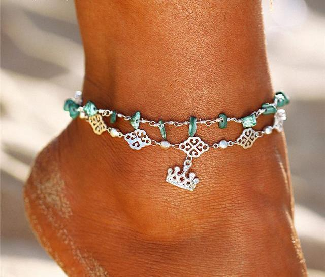 Multi Layer Anklet For Woman