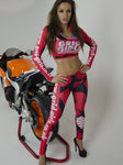 Grid Girls - Red Grid Girl Crop Top and Leggings