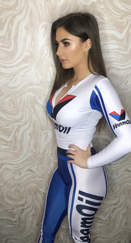 Grid Girl Catsuit Zip - Veem Oil
