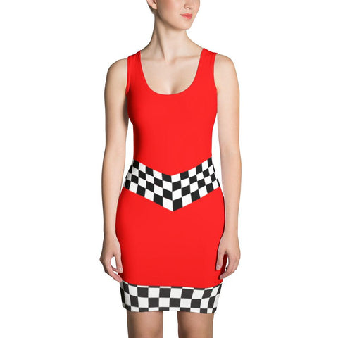 Grid Girls UK - Plain Red Racer Girl Dress