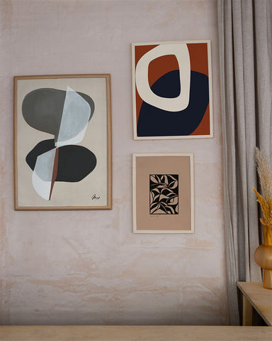 paper collective the poster club neutral beige abstract art print Mon Pote