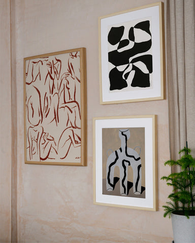 paper collective the poster club Mon Pote gallery wall figurative bold graphic female form art print