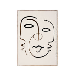We are One for Paper Collective face art print wall decoration