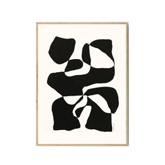 Impossible Island by Hanna Peterson black and white abstract art print bold graphic the poster club
