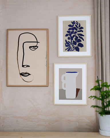 gallery wall Mon Pote art prints paper collective danish Scandinavian art bold abstract contemporary