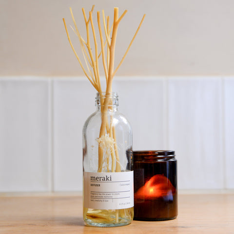 meraki reed diffuser bottle with vivid shades scent home fragrance