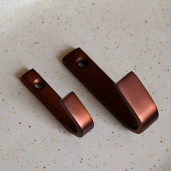 House doctor brown brass wall hook