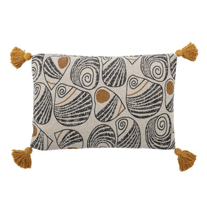 Yellow Recycled Cotton Cushion
