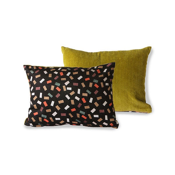 Doris for HK Living: Printed/Rib Cushion Flakes