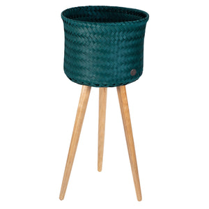 Handed By Up High Recycled Plastic Plant Stand Blue Green